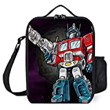 zhongmin Transformers Optimus Prime Chibi Portable Lunch Bag/Lunch Box/Lunch Tote/Picnic Bags Insulated Cooler Travel Organizer