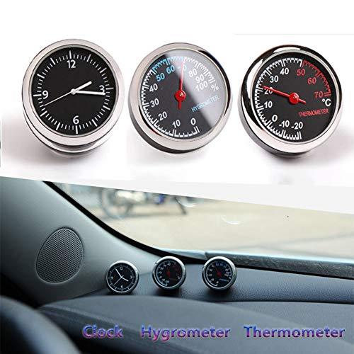Higrómetro del reloj del termómetro decorativo Compatible con insignias de Opel GT Monza Movano Olympia Más modelos de coche Accesorios Interior