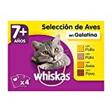 Whiskas Comida Húmeda para Gatos Senior Selección Aves en Gelatina, Multipack (Pack de 13 x 4 bolsitas x 100g)