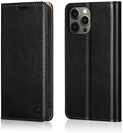 Belemay Compatible with iPhone 12 12 Pro Wallet Case 5G 6 1 2020 Genuine Cowhide Leather Folio product image