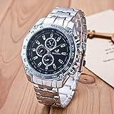 Ssl Herren-Armbanduhr, Business-Streifen-Armbanduhr, Quarzuhrwerk, Farbe: Schwarz, 3 Stück