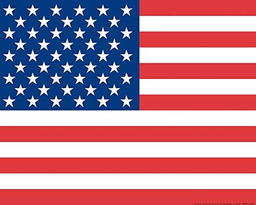 1art1 USA - Flaggen Der Welt Poster Kunstdruck 50 x 40 cm