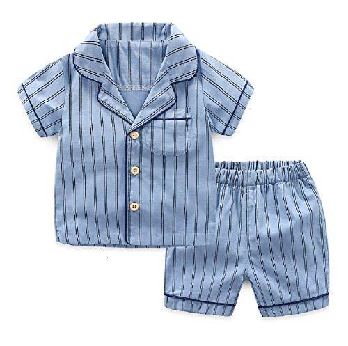 Unisex Kinder Anzug Bekleidungsset Schlafanzug Kurz Ärmel Baby Baumwolle Tops+Kurz Hose Festlich Kleinkinder zu Hause Bekleidung