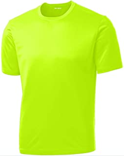 DRI-Equip Short Sleeve Moisture Wicking Running Shirts in Sizes XS-4XL