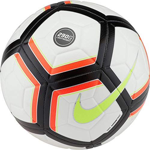 Nike Strike Team 290g Fußball, White/Total Crimson/Black/Volt, 5