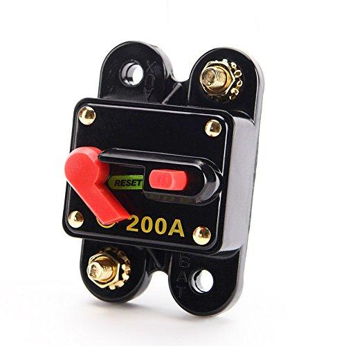 Carviya - Interruptor impermeable con reinicio manual para circuito eléctrico - Para...