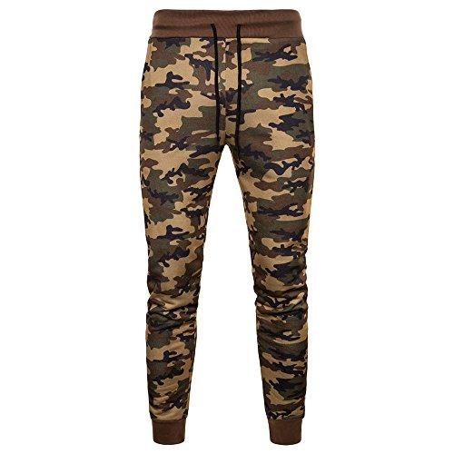LQQSTORE Herren Hose Camouflage Feet Freizeit Große Größe Atmungsaktiv Sports Herbst Winter (Kaffee, L2)