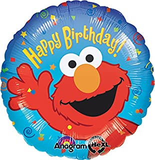 Anagram International Elmo Birthday Foil Balloon Pack, 18