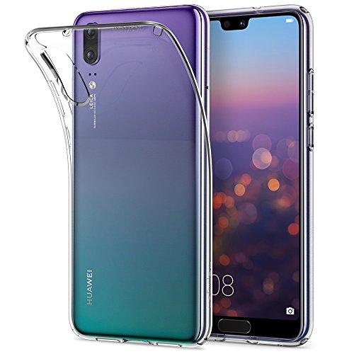Spigen, Funda Compatible con Huawei P20 [Liquid Crystal] Protección Delgada de Gel Silicona y claridad Premium de TPU [Compatible con Carga Inalámbrica]