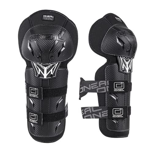 O\'NEAL | Knieprotektor | Kinder | Motocross Enduro | Verstellbare & elastische Klettbänder, nach (EU) 2016/425, Robuste Pastikschalen | Pro III Youth Knee Guard | Schwarz | One Size