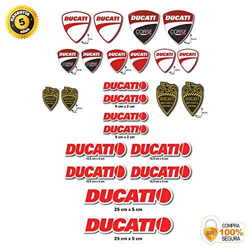 Aufkleber Sticker Stickers Kit Ducati Corse Logo Entero 24 Teile Angebot Aufkleber Motorrad Helm Motor