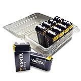 Varta 6LP3146 More Power + - Pilas alcalinas (9 V, en Caja con 10 Unidades, Reutilizables)
