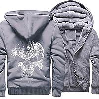 メンズフリースジャケットジップアップパーカーウインドブレーカーウォームハイキングキャンプハンティングウィンターコートジップポケット付き (Color : Gray, Size : 5XL)