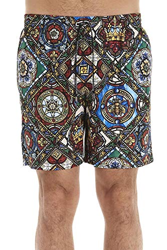 DOLCE E GABBANA Luxury Fashion Herren M4A13THSMICHH94C Multicolour Polyester Badeboxer | Frühling Sommer 20