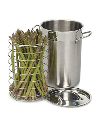 RSVP International Dampfgarer für Spargel/Gemüse aus Edelstahl