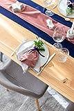 100%Mosel Tischläufer Samt, in Altrosa (28 cm x 5 m),Tischband aus Polyester in Matter Samt-Optik, edle Tischdeko für den Herbst & Winter, Dekoration zu besonderen Anlässen - 7