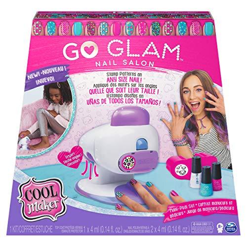 COOL MAKER - GO GLAM NAIL STAMPER SALON - Machine à Manucure et Pédicure avec 5 motifs et Vernis Inclus - 6054791 - Jouet Enfant 8 Ans et +