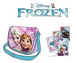 Disney Sac bandoulière la Reine des neiges - Sac à Main La Reine des neiges - Jeu de 25 Cartes La Reine des neiges