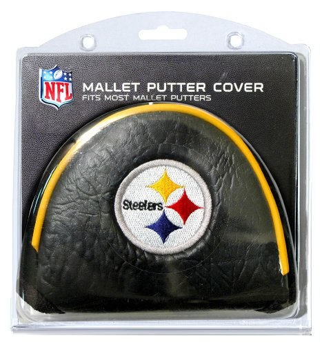 Team Golf NFL Pittsburgh Steelers Golf Club Mallet Putter Headcover, Fits Most Mallet Putters, Scotty Cameron, Daddy Long Legs, Taylormade, Odyssey, Titleist, Ping, Callaway