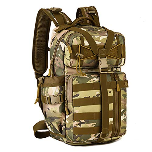 ASPZQ 30 Liters Assault Backpack Outdoor Tactical Backpack Camouflage Backpack Travel Bag Mountaineering Bag Riding Backpack,F