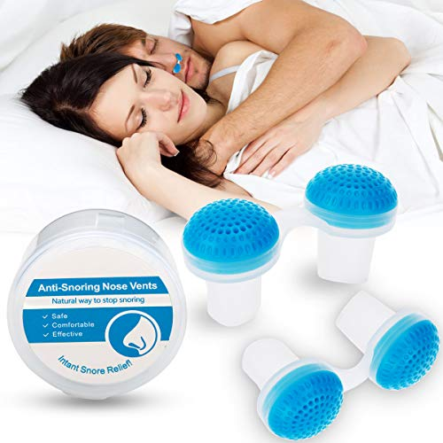 Anti Snoring Device Nose Vent Plugs, Snoring Solution and Air Purifier Filter Nasal Dilators Stop Snoring Devices Snore Stopper Nose Vent Sleep Aid for Cometable Sleeping Breathing Women Men