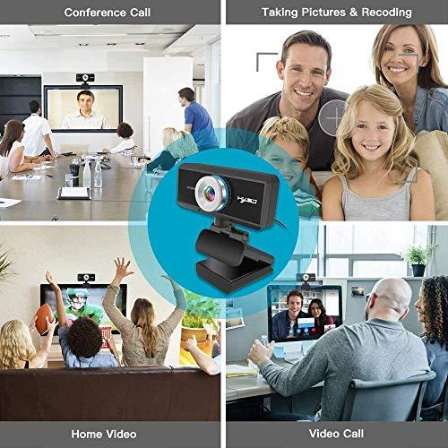 Kamera S4 HD 1080P Webcam Manueller Fokus Computer Eingebautes Mikrofon Videoanruf Web for PC Laptop