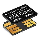Carte NM 64Go 90Mo/S Nano Carte mémoire Nano Carte Uniquement Convient pour Huawei P30/P30 pro/P40 series/Mate20 Series/Mate30...