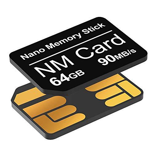 YAOMAISI NM-Karte 64GB 90MB/S Nano-Speicherkarte Nano-Karte Nur für Huawei P30/P30pro/P40-Serie/Mate20-Serie/Mate30-Serie/Mate40/Mate40pro Nano 64GB-Karte geeignet
