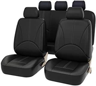 9 Pieces Set Luxury PU Leather Car Universal Car Seat Covers Automotive Seat Covers All The Year Round Fine-quality
