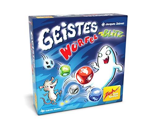 Zoch 601105141 Geistesblitz Würfelblitz, das lustige Reaktionsspiel für Groß und Klein, wer schnell die richtigen Figuren schnappt, hat Gute Chancen zu gewinnen, ab 8 Jahren