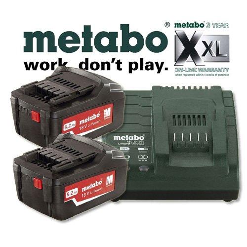METABO energiepack - 2 x 5,2 Ah + oplader ASC 30-36
