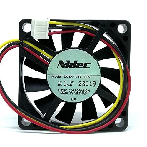 D05X-12TL 12V 0.05A 50 * 50 * 10mm 5CM 3 Lines Silent Cooling Fan