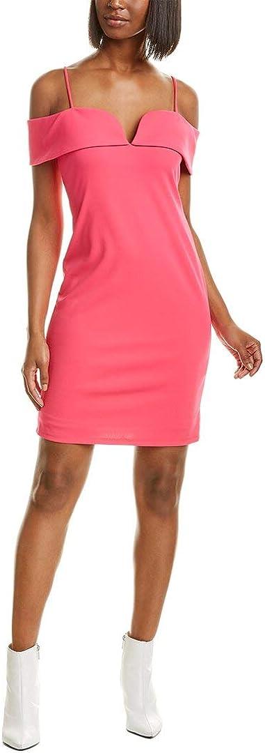 bebe Women's Fold Over Phoenix Mall Shoulders w Spaghetti Strap Scuba Crepe C Selling rankings