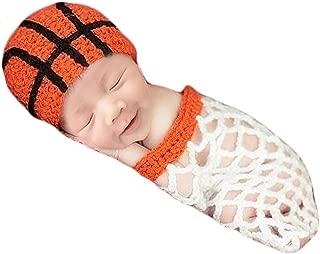 Baby Photography Props Basketball Hat Net Newborn Boy Girl Photo Shoot Outfits Infant Crochet Unisex Set White