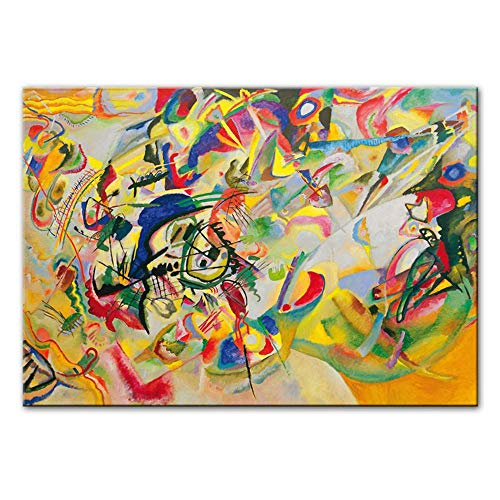 Afdrukken op canvas Abstracte kunst aan de muur Canvas schilderijen Moderne posters en prints Pop-art Muurafbeeldingen Cuadro Woondecoratie 80x120cm (31,5x47,2 inch) Geen lijst