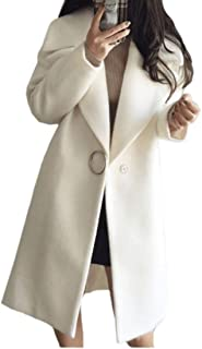 Womens Woolen Thick Fall Winter Lapel Collar Peacoat Trench Coat
