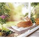 Sunny seat Petpaawjoy Katzenbett, Fensterstange, Saugnäpfe für Katzen, platzsparend, Haustier-Hängematte, Sicherheitsregale, 360°-Sonnenbad für Katzen mit einem Gewicht von bis zu 9 kg