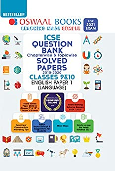 Oswaal ICSE Question Bank Chapterwise & Topicwise Solved Papers, Class-10, English Paper-1 Language  (For 2021 Exam) by [Oswaal Editorial Board]