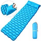 <span class='highlight'><span class='highlight'>IREGRO</span></span> Inflatable Sleeping Mat with Inflatable Bag, Hiker Inflatable Camping Mattress, Lightweight Compact Air Pad, Portable & Folding Sleeping Pad, Moisture-Proof for Hiking