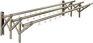 ZKHD Balcon Ménager en Alliage en Aluminium Split Push-Tire-Tire-Tire-Tire-Traction, Rack De Séchage Pliable Résistant À L...