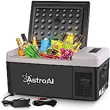 AstroAI Portable Freezer 12 Volt Car Refrigerator 16 Quart Fridge for Car, RV, Van, Vehicle, Boat, Portable Freezer (-4?~68?) for Camping, Travel, Fishing Outdoor — 12/24V DC and 100/240V AC
