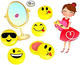 Play Kreative Emoji Lip Gloss for Kids – 12 Emoticon Girls Lip Balm - Great Birthday Party Favors