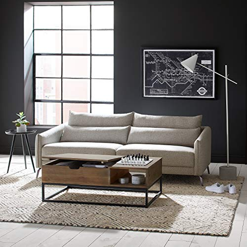 "Amazon Brand – Rivet Berkshire Mid-Century Modern Sofa Couch, 82.6""W, Grey"