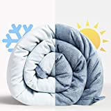 <span class='highlight'><span class='highlight'>BedStory</span></span> Weighted Blanket for Adults, Cooling Heavy Blanket for Sleep and Stress Relief Natural Bamboo Viscose with Premium Glass Beads Dual Faced Breathability Cool & Warm Summer Blanket (9KG/20LB)