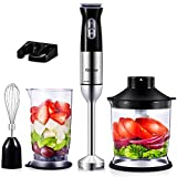 Yabano Hand Blender 800W, 5-in-1 Stick Blender, 12-Speed Immersion Blender Set with Electric