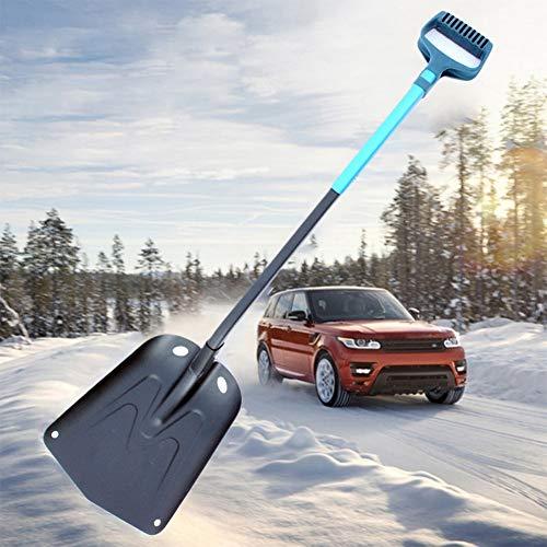 RENYANG Outdoor-Schneeschaufel aus Aluminium, zusammenklappbar, einziehbar, für Wandern, D-Griff, Garten, Mehrzweck-Eisentfernung, Winter