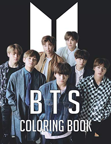 BTS Coloring Book: Funny Bangtan Boys Coloring Books , Stress Relief with BTS Jin, RM, JHope, Suga, Jimin, V, Jungkook Coloring Books for ARMY and KPOP Fans Adults & Teenagers