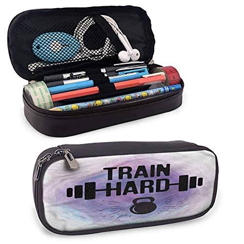 XCNGG Fitness Leder Tragetasche, Aquarelle Zug Hard Stationery Pouch Bag 8 'x3,5'...