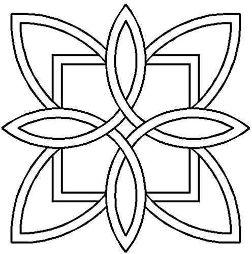 Quilting Creations Celtic Floral Design Quilt Stencil, 7'