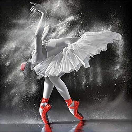 5D Pintura Diamante Painting Kit Chica de ballet DIY Taladro Completo Adultos Niño Punto Cruz Cuadro Grande Puzzle Rhinestone Bordado Art Home Pared De 25x30cm